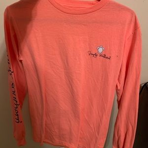 Simply southern coral/orange long sleeve